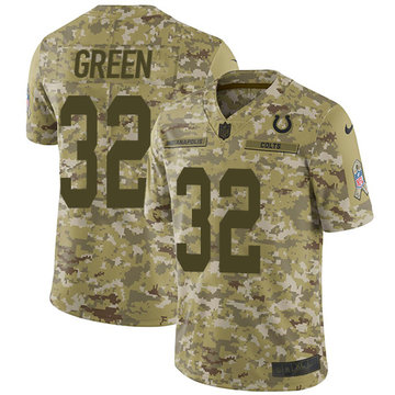 Nike Colts #32 T.J. Green Camo Men's Stitched NFL Limited 2018 Salute To Service Jersey