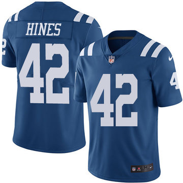 Nike Colts #42 Nyheim Hines Royal Blue Men's Stitched NFL Limited Rush Jersey