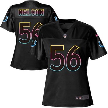Nike Colts #56 Quenton Nelson Black Women's NFL Fashion Game Jersey