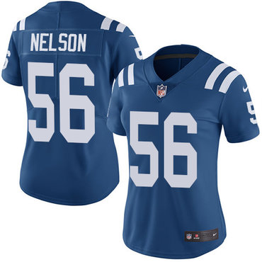 Nike Colts #56 Quenton Nelson Royal Blue Team Color Women's Stitched NFL Vapor Untouchable Limited Jersey