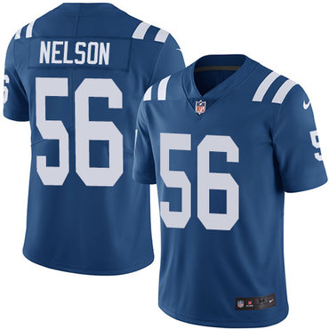 Nike Colts #56 Quenton Nelson Royal Blue Youth Stitched NFL Limited Rush Jersey