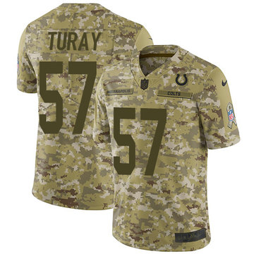 Nike Colts #57 Kemoko Turay Camo Men's Stitched NFL Limited 2018 Salute To Service Jersey