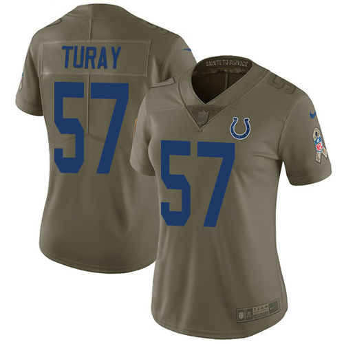 Nike Colts #57 Kemoko Turay Olive Women's Stitched NFL Limited 2017 Salute to Service Jersey
