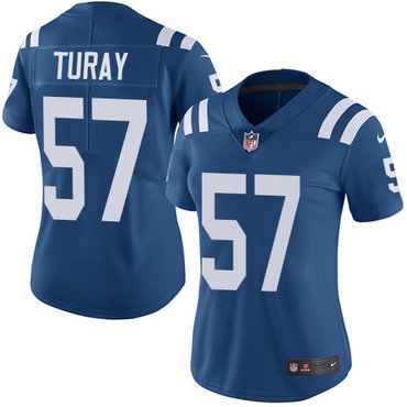 Nike Colts #57 Kemoko Turay Royal Blue Team Color Women's Stitched NFL Vapor Untouchable Limited Jersey