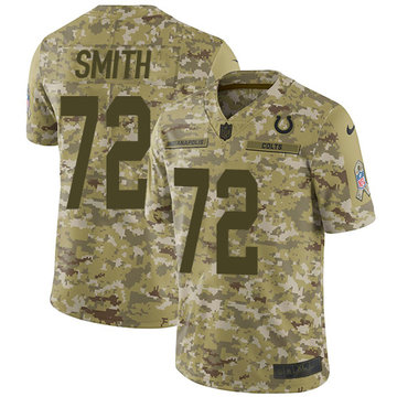 Nike Colts #72 Braden Smith Camo Men's Stitched NFL Limited 2018 Salute To Service Jersey