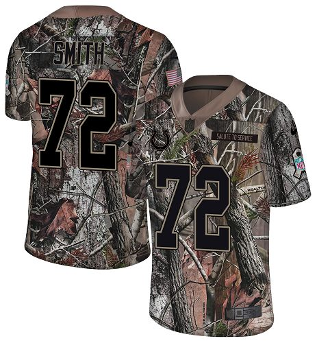 Nike Colts #72 Braden Smith Camo Men's Stitched NFL Limited Rush Realtree Jersey