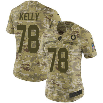 Nike Colts #78 Ryan Kelly Camo Women's Stitched NFL Limited 2018 Salute to Service Jersey