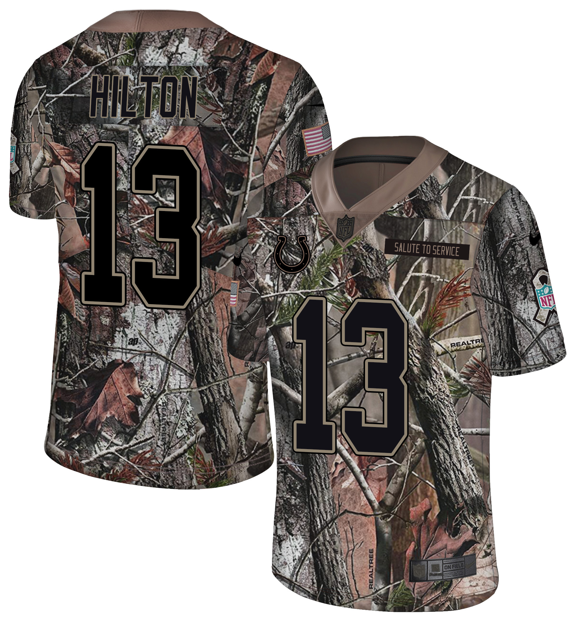 Nike Colts 13 T.Y. Hilton Camo Rush Limited Jersey