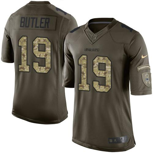 Nike Cowboys #19 Brice Butler Green Men's Stitched NFL Limited Salute To Service Jersey