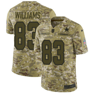 Nike Cowboys #83 Terrance Williams Camo Men's Stitched NFL Limited 2018 Salute To Service Jersey