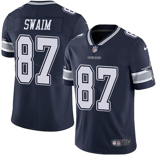 Nike Cowboys #87 Geoff Swaim Navy Blue Team Color Men's Stitched NFL Vapor Untouchable Limited jerseyssite.net