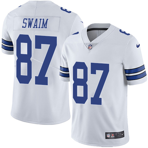 Nike Cowboys #87 Geoff Swaim White Men's Stitched NFL Vapor Untouchable Limited Jersey