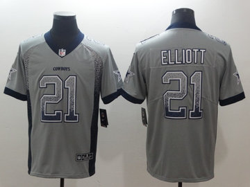 Nike Cowboys 21 Ezekiel Elliott Drift Fashion Limited Jersey