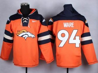 Nike Denver Broncos #94 DeMarcus Ware Orange Player Pullover NFL Hoodie