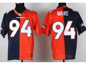 Nike Denver Broncos 94 Demarcus Ware Orange Blue Split NFL Jersey