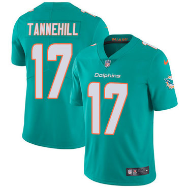Nike Dolphins #17 Ryan Tannehill Aqua Green Team Color Youth Stitched NFL Vapor Untouchable Limited Jersey