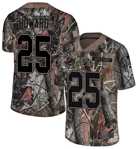 Nike Dolphins #25 Xavien Howard Camo Youth Stitched NFL Limited Rush Realtree Jersey
