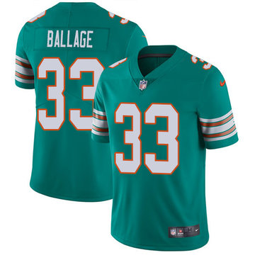 Nike Dolphins #33 Kalen Ballage Aqua Green Alternate Men's Stitched NFL Vapor Untouchable Limited Jersey