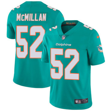 Nike Dolphins #52 Raekwon McMillan Aqua Green Team Color Youth Stitched NFL Vapor Untouchable Limited Jersey