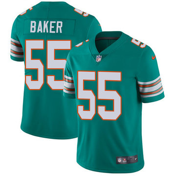 Nike Dolphins #55 Jerome Baker Aqua Green Alternate Men's Stitched NFL Vapor Untouchable Limited Jersey