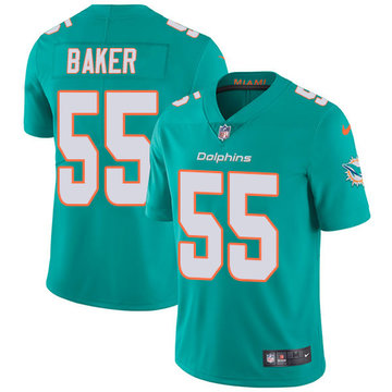 Nike Dolphins #55 Jerome Baker Aqua Green Team Color Men's Stitched NFL Vapor Untouchable Limited Jersey
