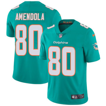 Nike Dolphins #80 Danny Amendola Aqua Green Team Color Youth Stitched NFL Vapor Untouchable Limited Jersey