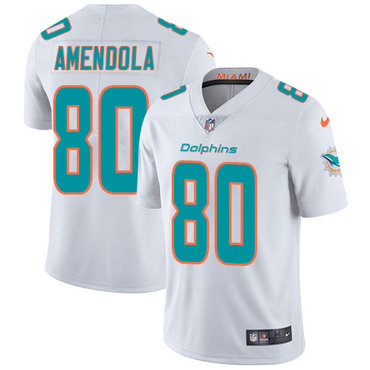 Nike Dolphins #80 Danny Amendola White Youth Stitched NFL Vapor Untouchable Limited Jersey