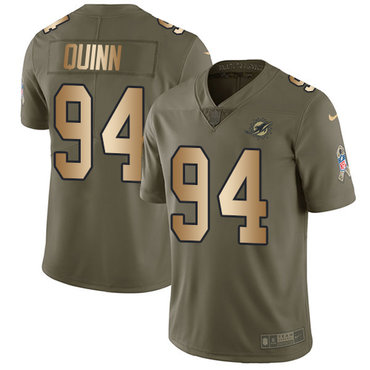 Nike Dolphins #94 Robert Quinn Olive Gold Youth Stitched NFL Limited 2017 Salute to Service Jersey