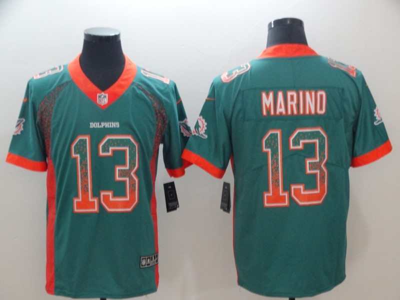 Nike Dolphins 13 Dan Marino Aqua Drift Fashion Limited Jersey