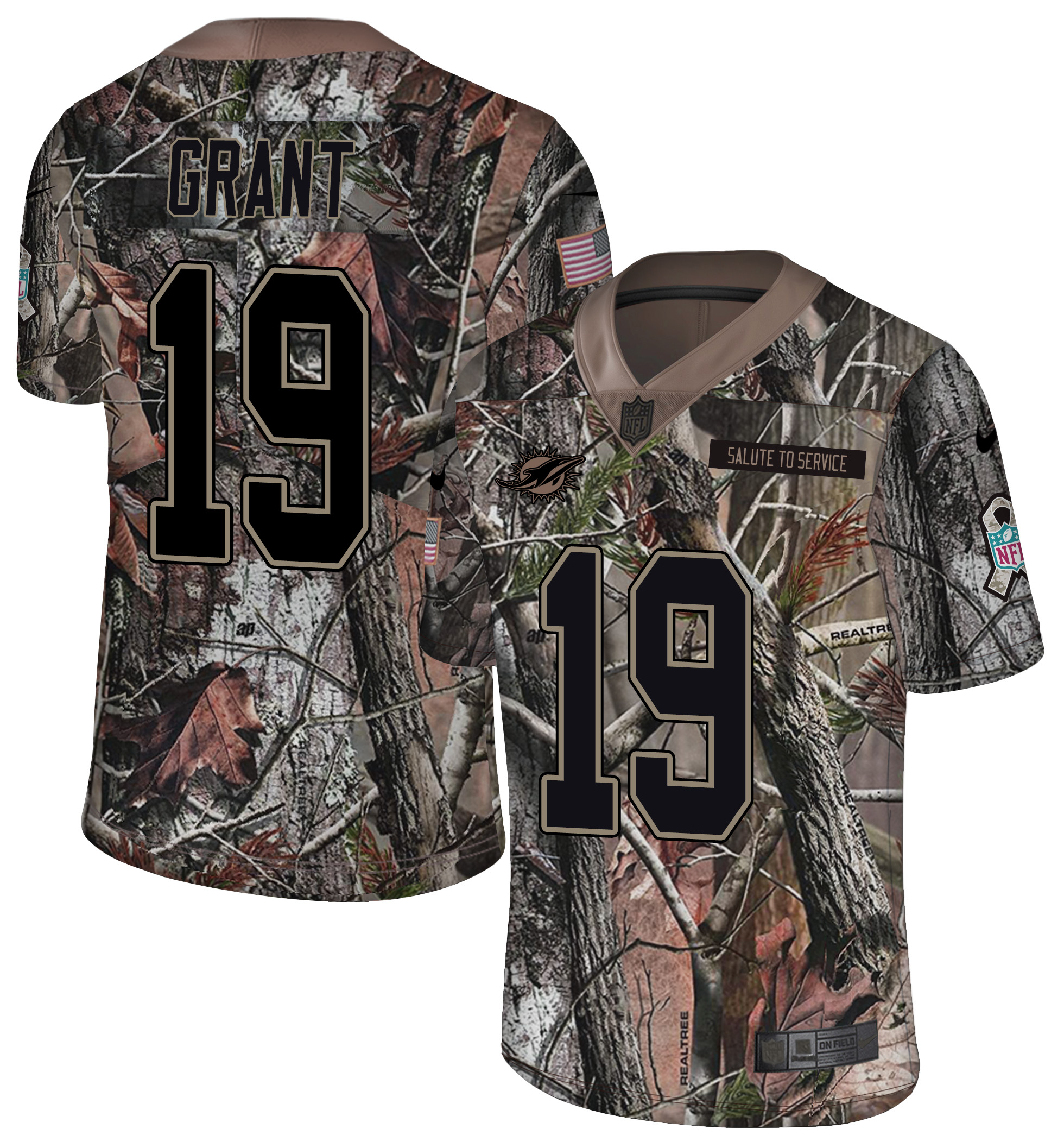 Nike Dolphins 19 Jakeem Grant Camo Rush Limited Jersey