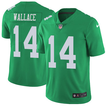 Nike Eagles #14 Mike Wallace Green Youth Stitched NFL Limited Rush Jersey