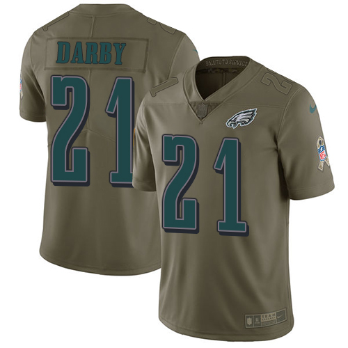 Nike Eagles #21 Ronald Darby Olive Men's Stitched NFL Limited 2017 Salute To Service Jersey