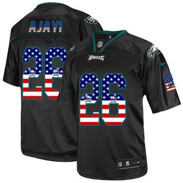 Nike Eagles #26 Jay Ajayi Black Men's Stitched NFL Elite USA Flag Fashion Jersey