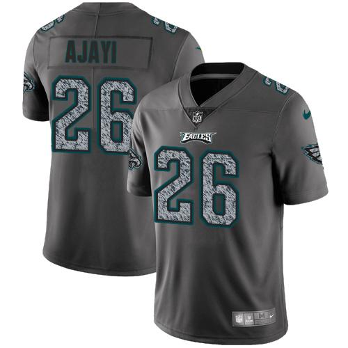 Nike Eagles #26 Jay Ajayi Gray Static Men's Stitched NFL Vapor Untouchable Limited Jersey