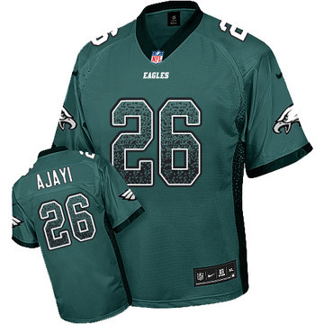 Nike Eagles #26 Jay Ajayi Midnight Green Team Color Men's Stitched NFL Elite Drift Fashion Jersey