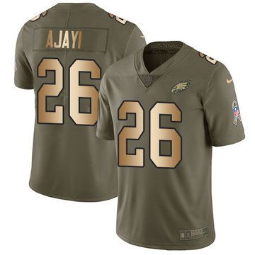 Nike Eagles #26 Jay Ajayi Olive Gold Men's Stitched NFL Limited 2017 Salute To Service Jersey