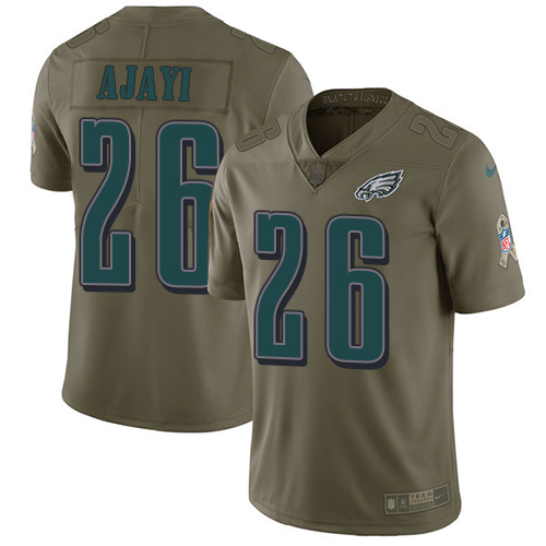 Nike Eagles #26 Jay Ajayi Olive Men's Stitched NFL Limited 2017 Salute To Service Jersey
