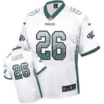 Nike Eagles #26 Jay Ajayi White Men's Stitched NFL Elite Drift Fashion Jersey