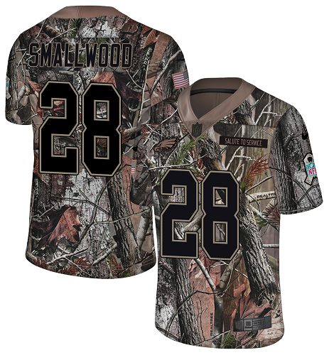 Nike Eagles #28 Wendell Smallwood Camo Men's Stitched NFL Limited Rush Realtree Jersey