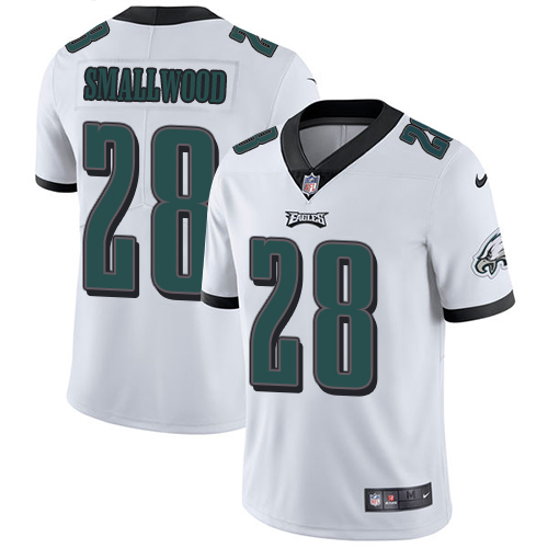 Nike Eagles #28 Wendell Smallwood White Men's Stitched NFL Vapor Untouchable Limited Jersey