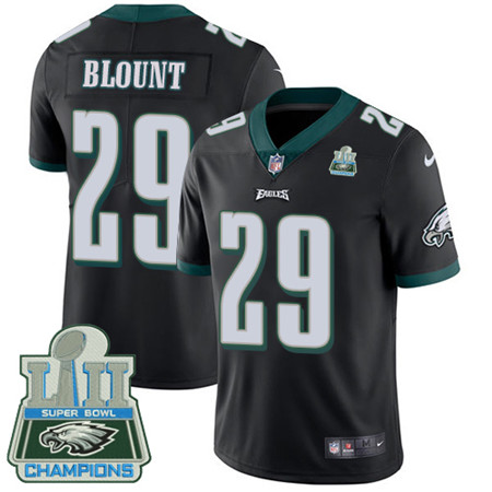Nike Eagles #29 LeGarrette Blount Black Alternate Super Bowl LII Champions Youth Stitched NFL Vapor Untouchable Limited Jersey