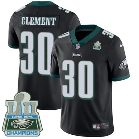 Nike Eagles #30 Corey Clement Black Alternate Super Bowl LII Champions Youth Stitched NFL Vapor Untouchable Limited Jersey