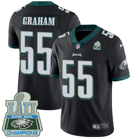 Nike Eagles #55 Brandon Graham Black Alternate Super Bowl LII Champions Youth Stitched NFL Vapor Untouchable Limited Jersey