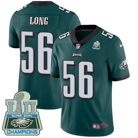 Nike Eagles #56 Chris Long Midnight Green Team Color Super Bowl LII Champions Youth Stitched NFL Vapor Untouchable Limited Jersey