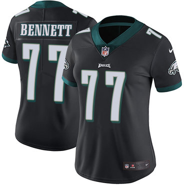 Nike Eagles #77 Michael Bennett Black Alternate Women's Stitched NFL Vapor Untouchable Limited Jersey