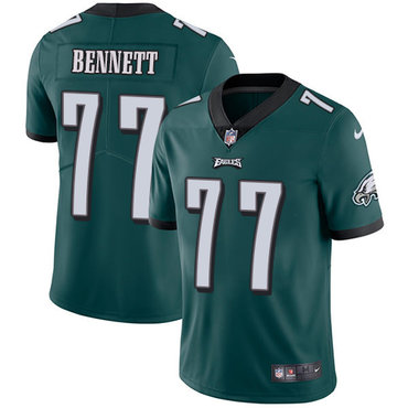 Nike Eagles #77 Michael Bennett Midnight Green Team Color Youth Stitched NFL Vapor Untouchable Limited Jersey