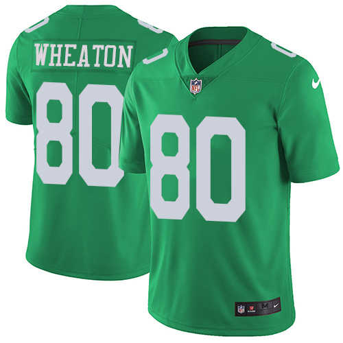 Nike Eagles #80 Markus Wheaton Green Men's Stitched NFL Limited Rush Jersey