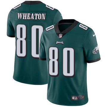 Nike Eagles #80 Markus Wheaton Midnight Green Team Color Men's Stitched NFL Vapor Untouchable Limited Jersey