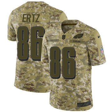 Nike Eagles #86 Zach Ertz Camo Stitched NFL Limited 2018 Salute to Service Jersey