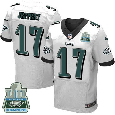 Nike Eagles 17 Alshon Jeffery White 2018 Super Bowl Champions Elite Jersey